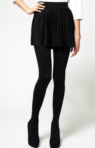 medias pantys tipo leggins resistente super oscuras negro