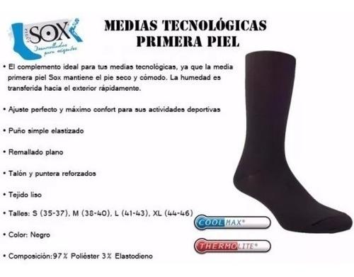 medias termicas primera piel sox linea tecnologica linner