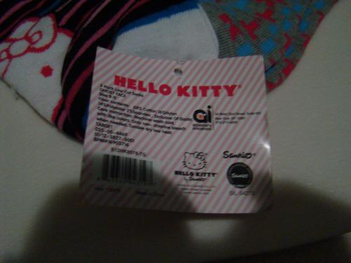 medias tobilleras dama hello kitty sanrio original 3pack