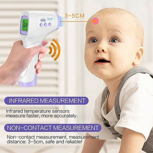 medical body forehead ir infrared laser digital thermometer