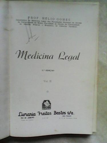 medicina legal 5ª edição  helio gomes 1959