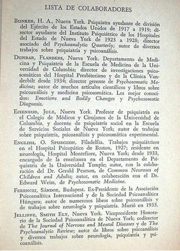 medicina psicosomatica y psicoanalisis de hoy / f. dunbar