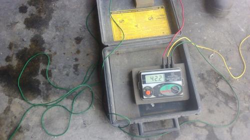 medición de pozos a tierra  + protocolo a s/.70.00
