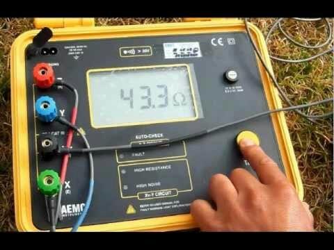 medicion de puesta a tierra r900/15. electricista matricuado