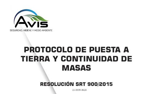 medición de puesta a tierra  resolución srt 900/2015