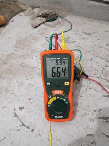 medición de puesta a tierra,carga de fuego,ruido,iluminación