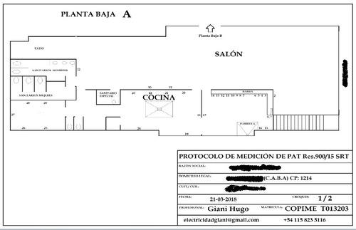 medición jabalina puesta tierra, certificado res srt 900/15