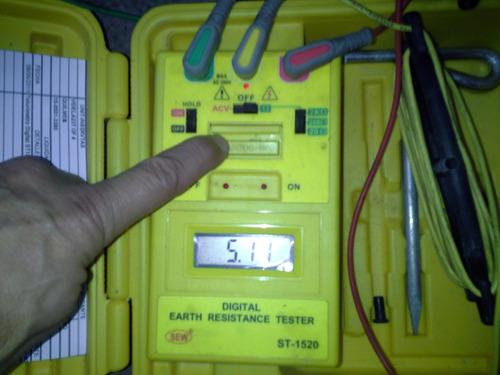 medición puesta tierra continuidad masas protocolo srt900/15