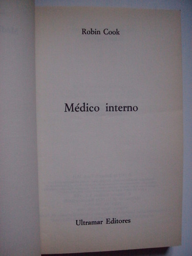 médico interno - robin cook - 1990