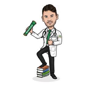 Medico Jaleco Formatura Caricatura Digital Promoçao