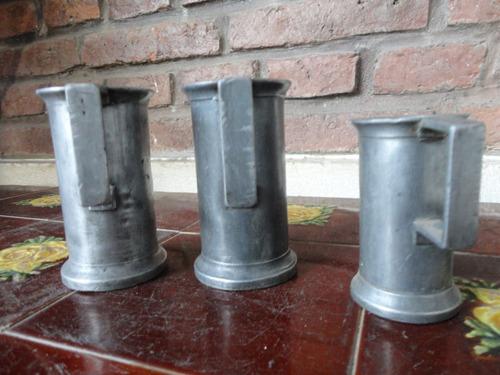 medidas antiguas de peltre para la venta de aceite suelto