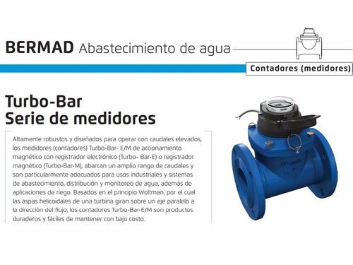 medidor agua bermad potable riego pozo residual 2-20 pulgada