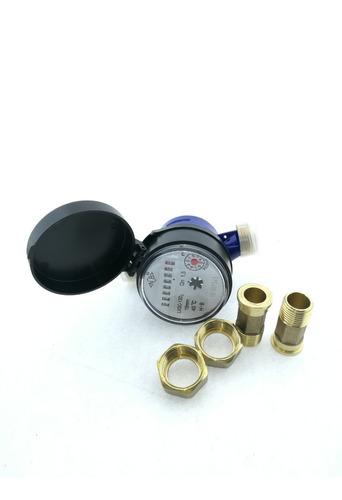 medidor agua chorro unico en bronce