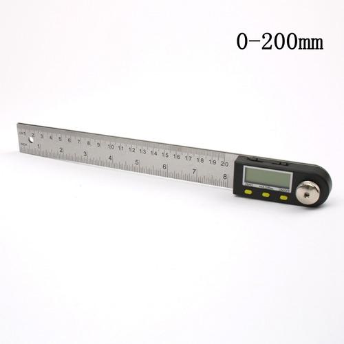 medidor angulo digital 200mm transportador 0 a 360 grados