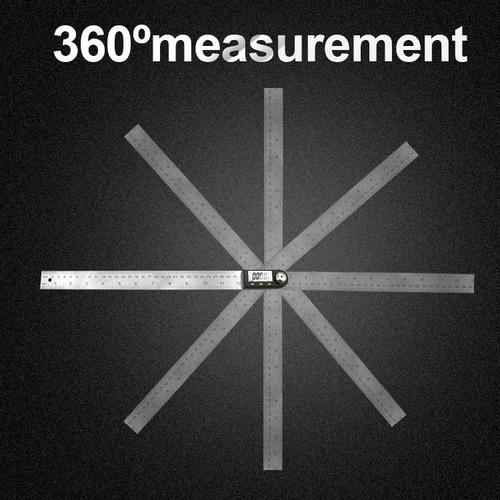 medidor angulo digital 300mm transportador 0 a 360 grados
