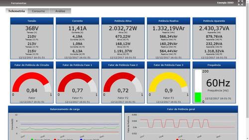 medidor bidirecional para painel solar kit dmi t40t 160a
