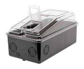 medidor caixa para luz bifásica policarbonato