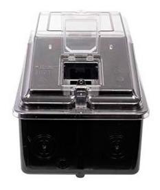 medidor caixa para luz trifasica policarbonato