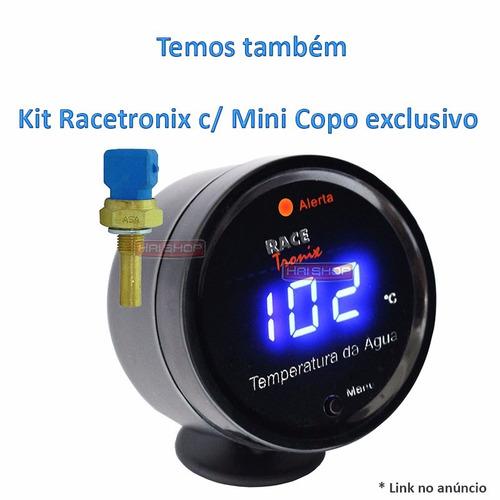 medidor carro temperatura água digital racetronix led azul