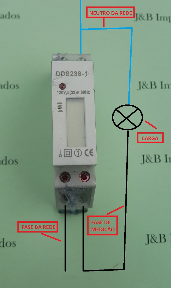 1ed3720d4c5 medidor consumo de energia digital monofásico 110v 127v 32a. Carregando  zoom.