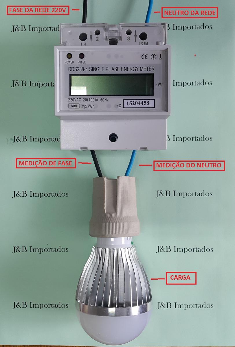 054800776c0 Medidor Consumo De Energia Digital Monofásico 220v   100a - R  119 ...