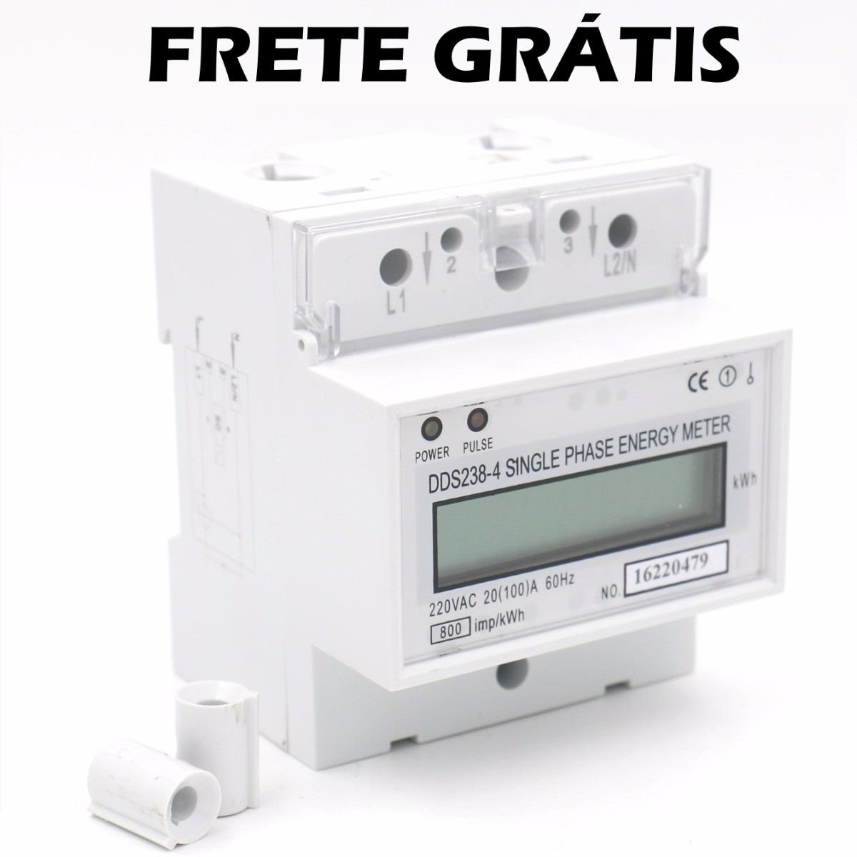 16185abbd3a medidor consumo de energia monofásico 220v 100a. Carregando zoom.