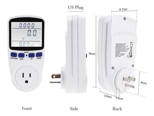 medidor consumo electrico kill a watt ahorro wattimetro