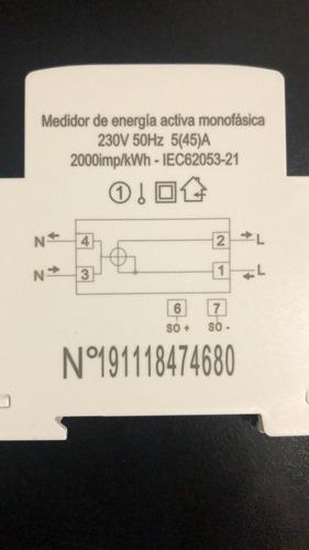 medidor consumo monofasico luz internos digital hogar