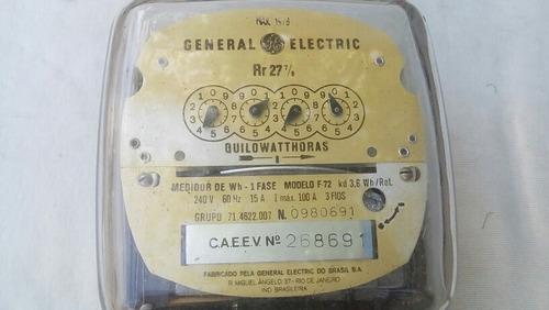 medidor contador electricidad general electric calibrado