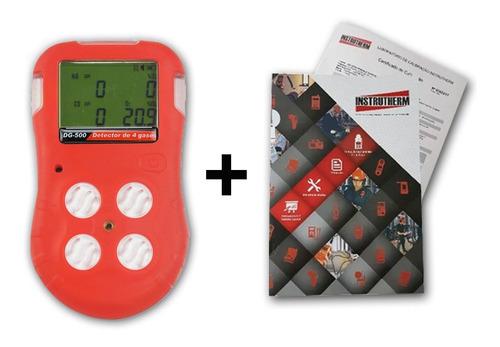 medidor de 4 gases com datalogger (memória) com certificado de calibração acreditado rbc / inmetro (c/ selo inmetro)