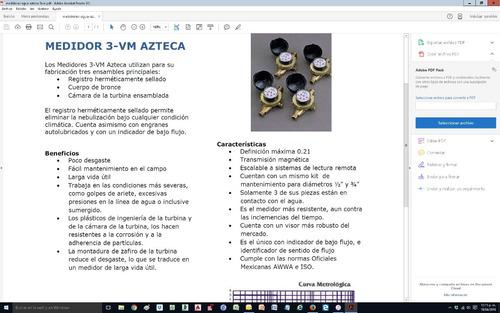 medidor de agua azteca 3vm