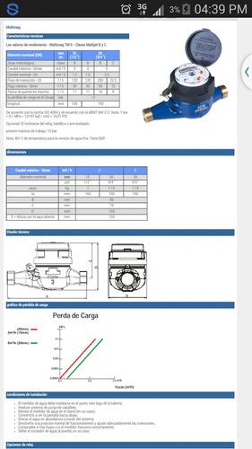 medidor de agua -caudalimetro ideal p/vivienda rosca 3/4