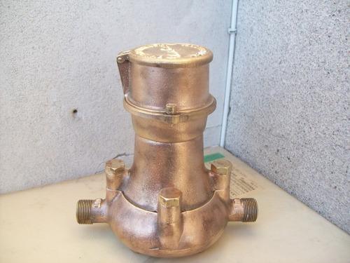 medidor de agua en bronce santa lucia