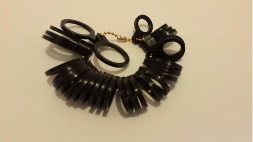 medidor de anillos talla de la 1 a la 15 color negro