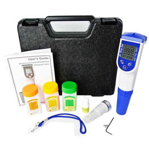 medidor de calidad de agua 6 en 1 digital