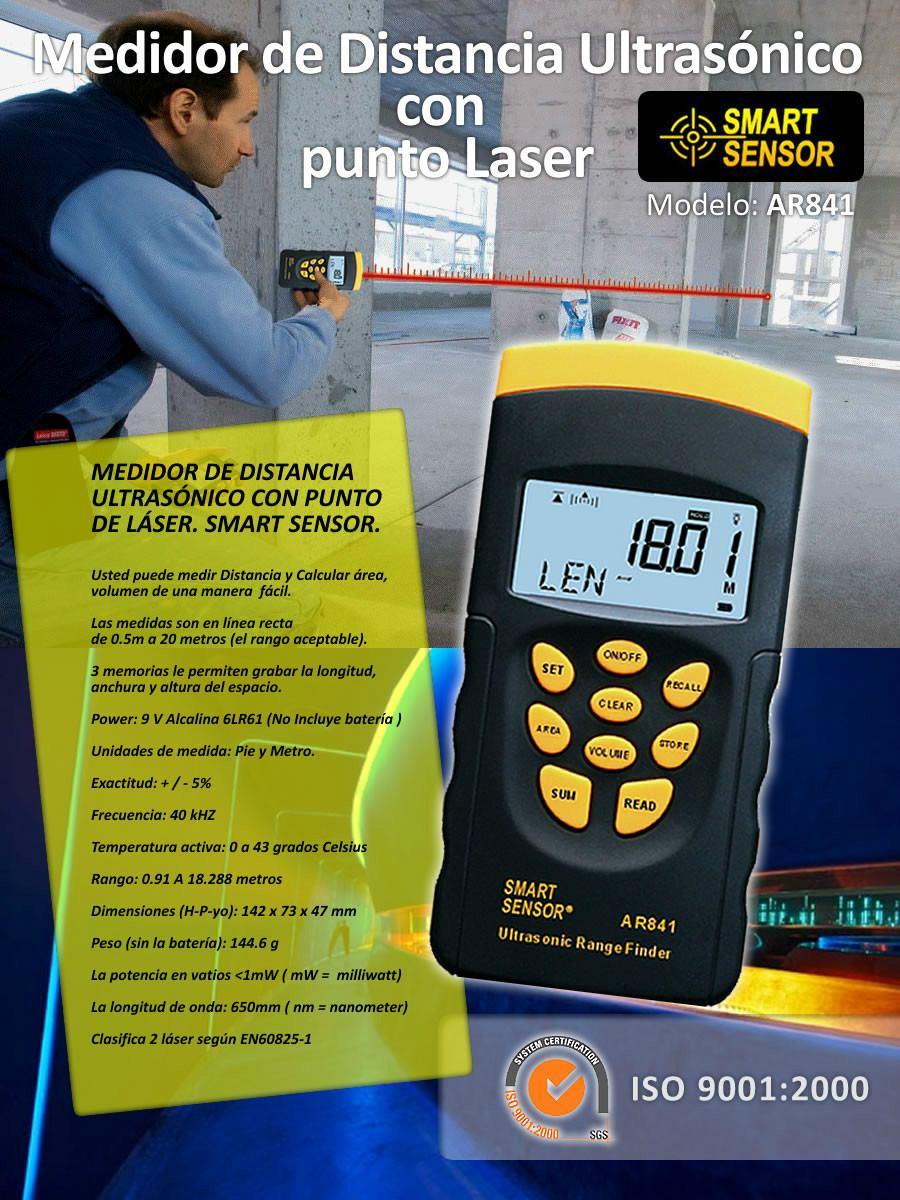 Medidor de distancia con laser smart sensor para 20 metros - Medidor de distancia ...