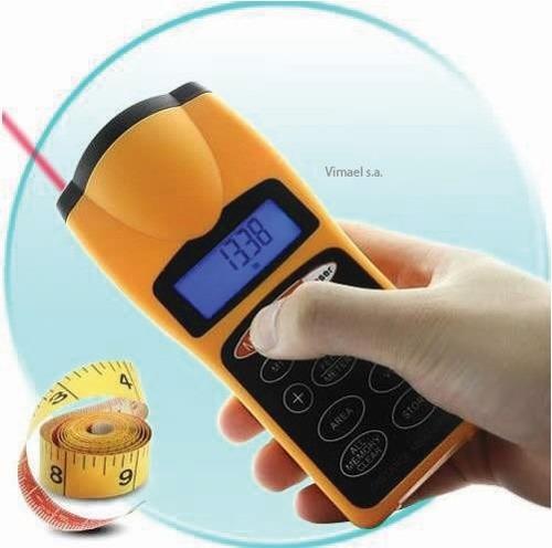 medidor de distancia laser, mide longitud area volumen