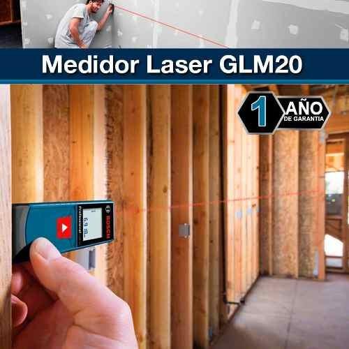 medidor de distancia telemetro laser bosch glm 20 metros
