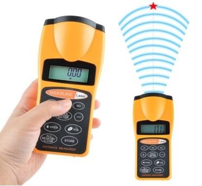 Medidor de distancia ultras nico con puntero laser lcd for Medidor de distancia laser