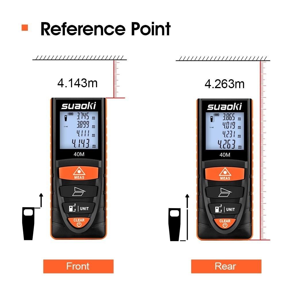 Medidor de distancias laser digital suaoki d8 hasta 40 mt - Medidor de distancia ...