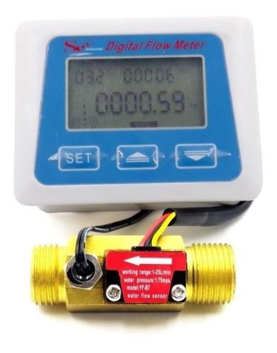 medidor de fluxo de água digital sensor de vazão temperatura