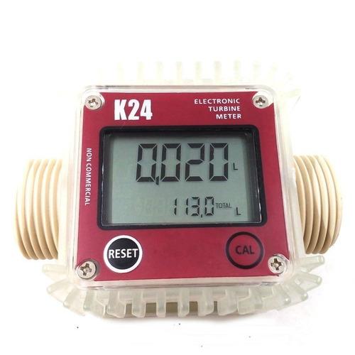 medidor de fluxo digital k24 água oleo gasolina fluxometro
