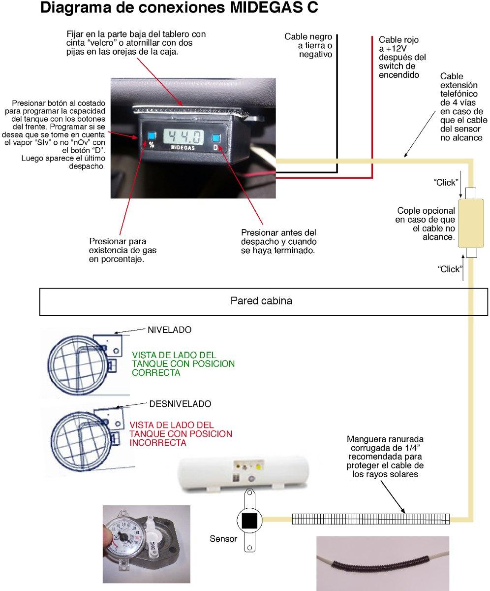 Medidor De Gas Lp En Litros Para Veh 237 Culos Midegas C