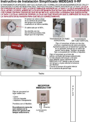 medidor de gas lp inalámbrico para tanque estacionario