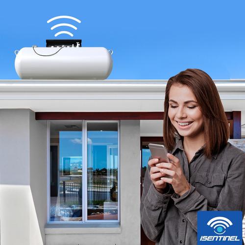 medidor de gas lp wifi, tanque estacionario- isentinel gas