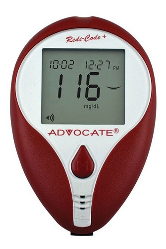 medidor de glucosa en sangre advocate redi-code plus
