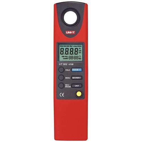 medidor de luz luxometro digital unit ut382 usb