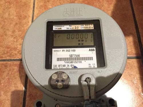 medidor de luz trifasico abb industrial fm 5a 220 voltios