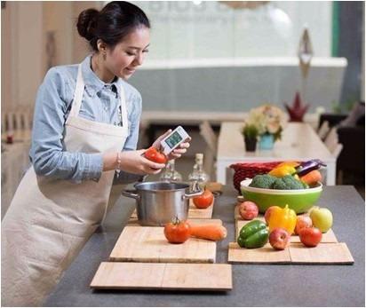 medidor de niveles de nitrato en frutas y verduras
