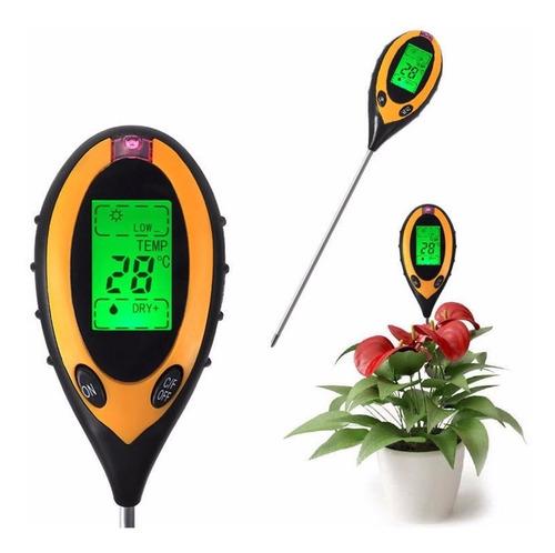 medidor de ph digital 4 en 1 luminosidad humedad temperatura